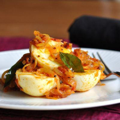 Guest Recipe: Mutta Roast (Egg Roast) by Sheba Promod from Absolute Indian, Cooker School and Spice Boutique