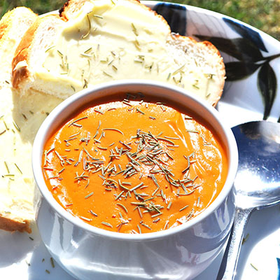 Blender Tomato & Sweetcorn Soup