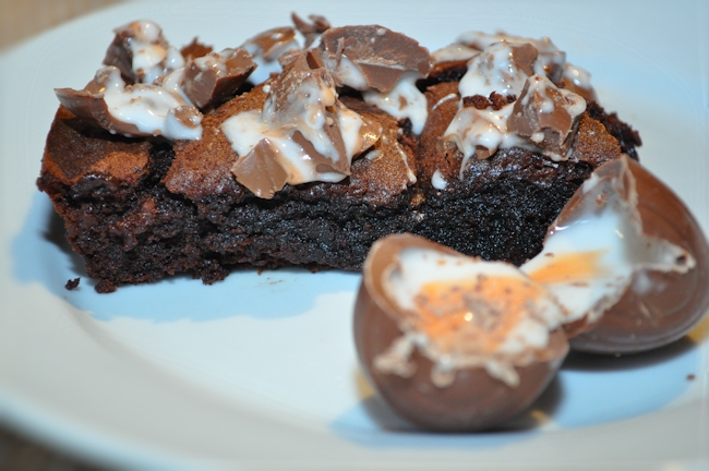 Creme Egg Brownies with a Surprise Middle