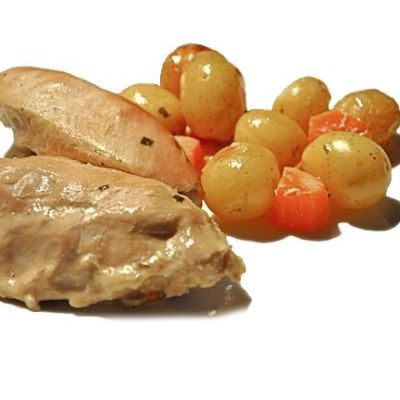 Roasting Bag:  Chicken Breasts in Chicken Tonight Country French White Wine Sauce …With Cream & Chives