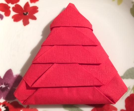 How Do You Fold A Napkin Into A Christmas Tree