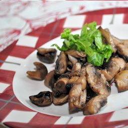 Actifry Recipe:  Fried Garlic Mushrooms