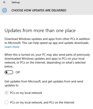 Image from Windows 10 Settings Page