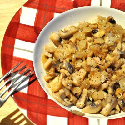 Honey Glazed Mushroom and Onion Topping