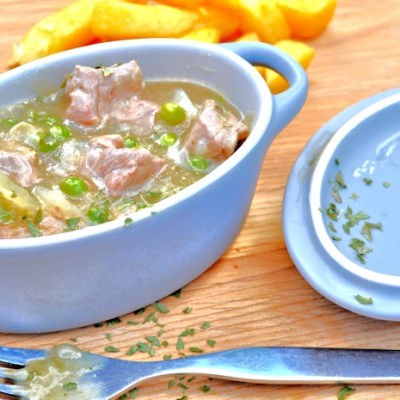 Curried Welsh Lamb Stew, Served with Chips – For #NationalCurryWeek