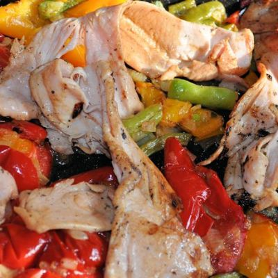 Mixed Pepper Bake with Turkey Bacon