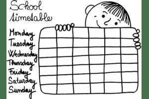 School Timetable 570x380