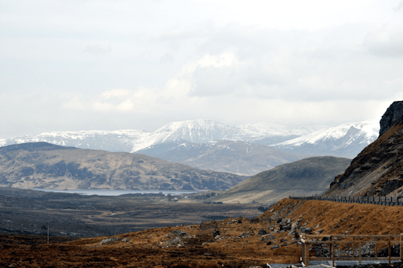Ullapool Road Drive Snow Hills