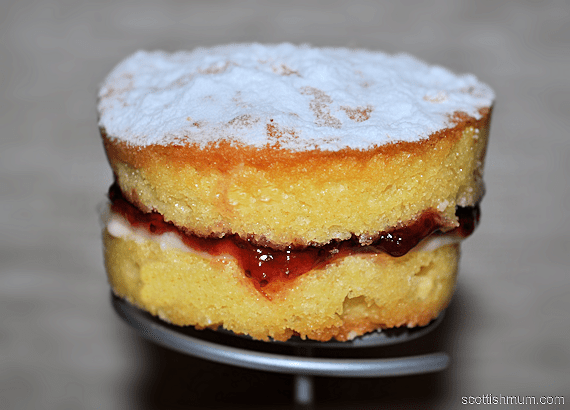 Individual Victoria Sponge Cakes with Buttercream and Jam