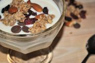 fresh yoghurt with granola