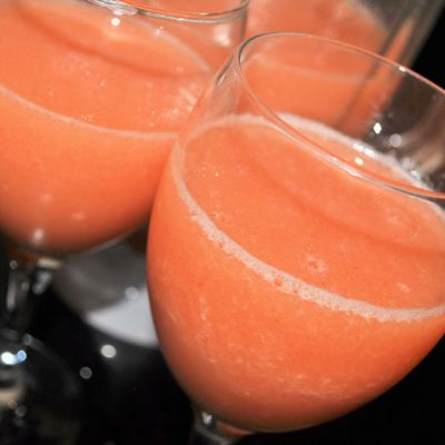 Strawberry, Peach & Pear Smoothie