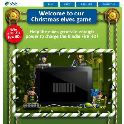 A Kindle Fire HD up for grabs with SSE – Closes 18th December at 4pm.  Get your skates on.