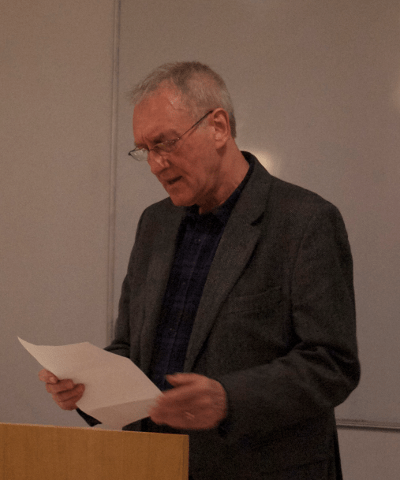 James Kelman reading from The Book of Whispers, April 2015