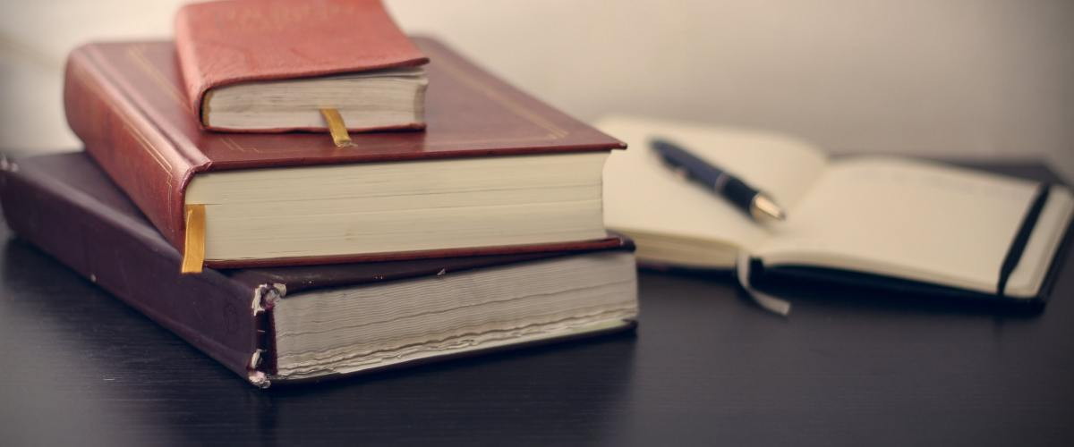 books and notepad