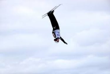 ski jumper twisting