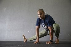 Man stretching