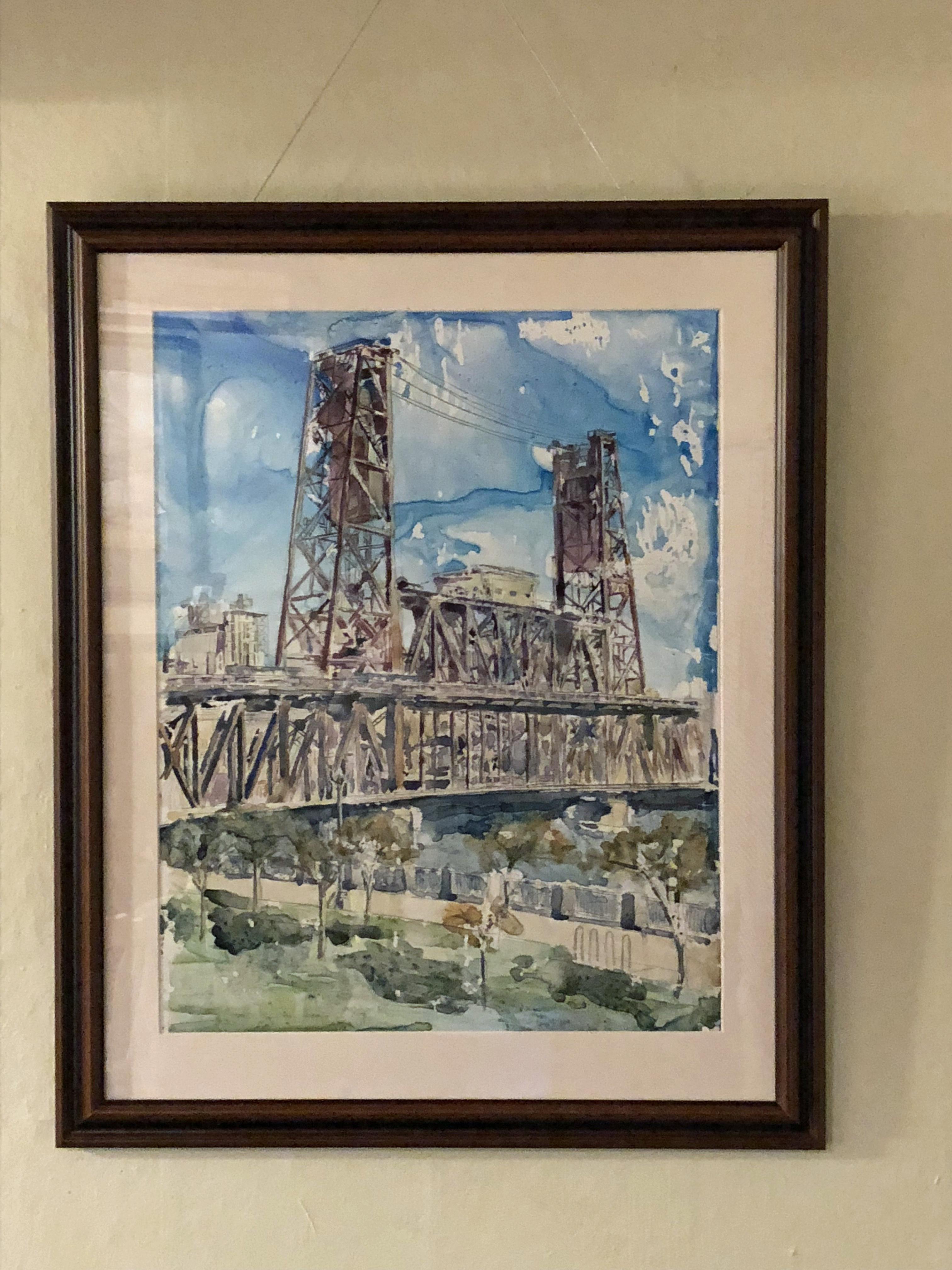 Steel Towers Print Framed