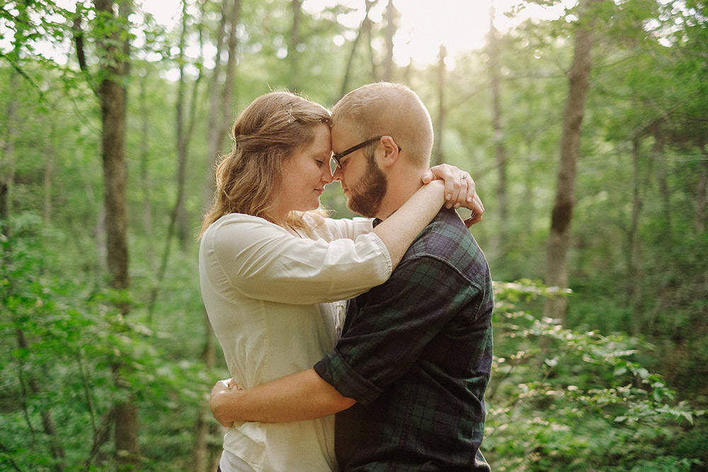 Columbia Missouri Summer Forest engagment Alex and Staci 008