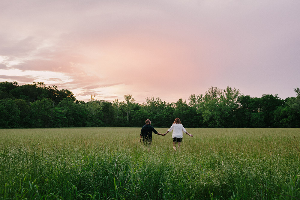 Columbia Missouri Summer Forest engagment Alex and Staci 019