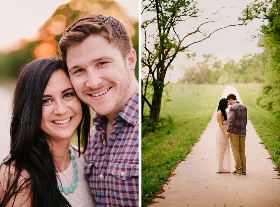 Columbia, Missouri Summer Engagement Photographs | Meagan + Zach