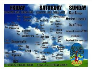 2015 Earthday Jam schedule