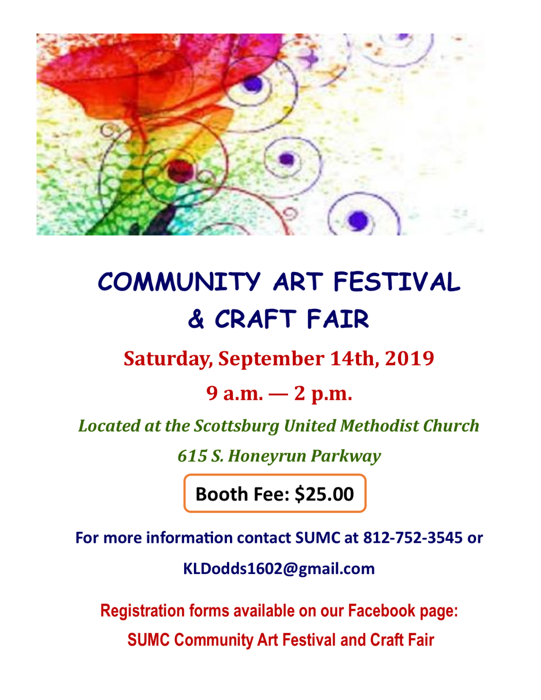 Art Festival Craft Fair flyer 2019 updated