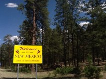 Entering New Mexico