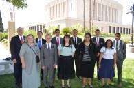 Front: Sister Sweeny, Elder Morgan, Sisters Allen, Ho Chee, Teniza; Back Pres. Sweeney, Elders Herrera, Kapisi, Kaufusi, Perkins and Coleman