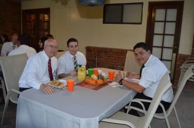 Pres. Sweeney with Elders Hodges and Tellez