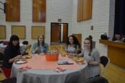 At lunch - Sisters Fukushima, DeMille, Villalta and Patterson