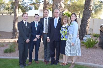 Elder Tuckett, Elder O'Brien, Elder Watson, Sis. Johannessen