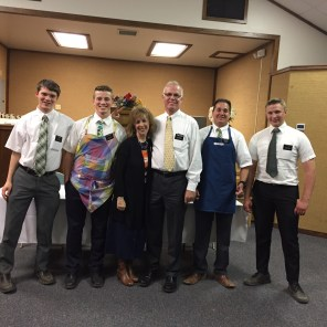 Elder Kunz, Elder Edwards, Sis & Pres. Robinson, Elder Huerra and Elder Moody