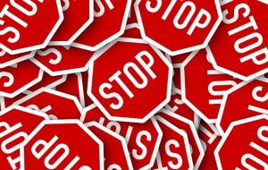 Bunch of stop signs