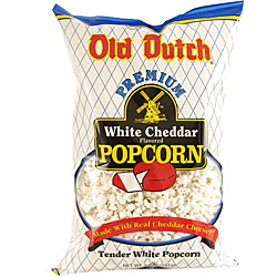 "Picture of a big bag of ""Old Dutch - White Cheddar"" Popcorn"