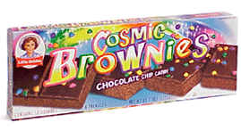 "Picture of a box of Little Debbie ""Cosmic Brownies"""