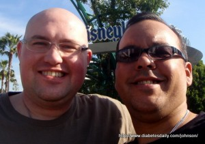 Scott & George at Disneyland