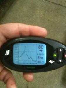 Image of dexcom seven graph during ride