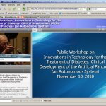 Screenshot from the FDA - NIH Public Workshop