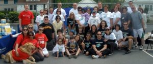 """Picture of """"Team Zachary"""" at the walk"""