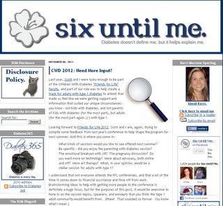 Screenshot of Kerri's Blog - Six Until Me