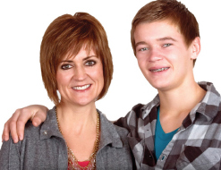 Brenda Novak and her son Thad