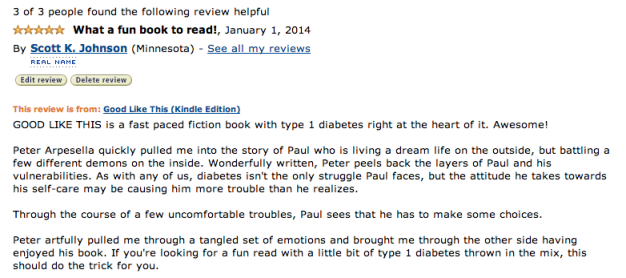 Scott's Amazon Review for GOOD LIKE THIS by Peter Arpesella