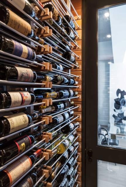 Chelsea Loft - New York - Wine Cellar Detail