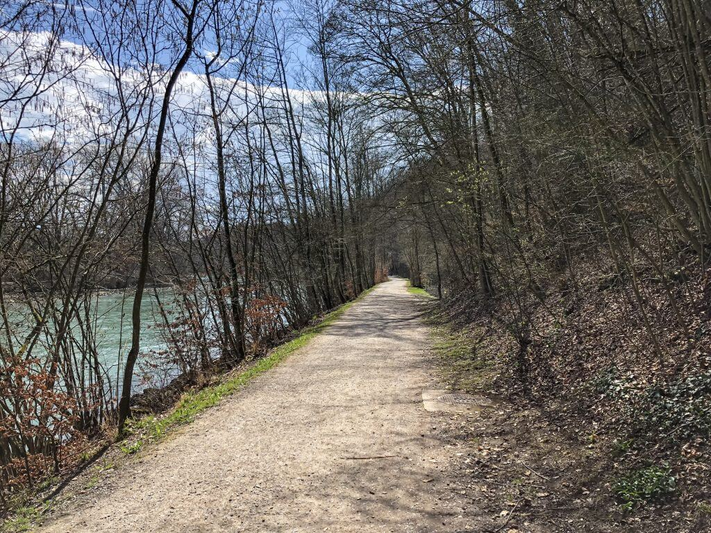 Hiking Trail by The Aare River in Bern Switzerland