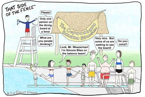 Gymnast Practice on the Diving Board @ The Copacabana Banana.jpg
