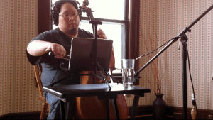 "Jeffrey Chen playing cello on ""Oceans of Blood"""