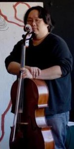Jeffrey Chen with his cello