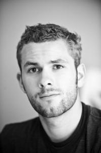 Chris Whonsetler self portrait in black and white