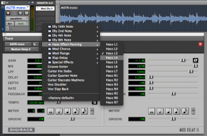 screenshot of Pro Tools session