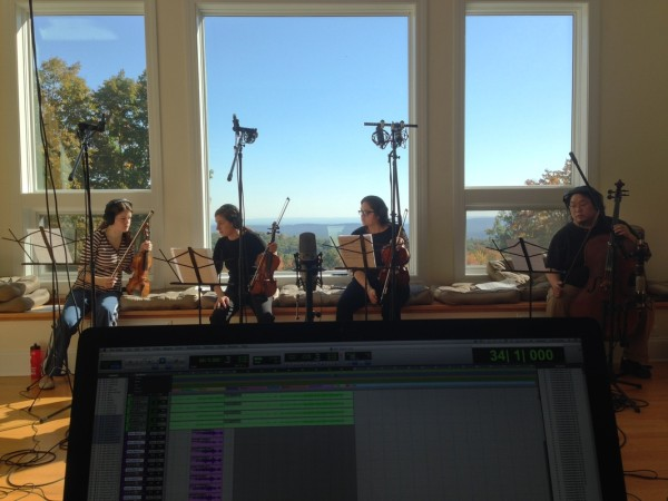 recording the string section